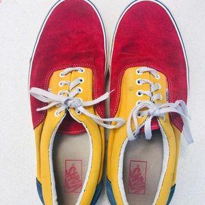 VANS Suede & Canvas Color Block Sneakers Shoes